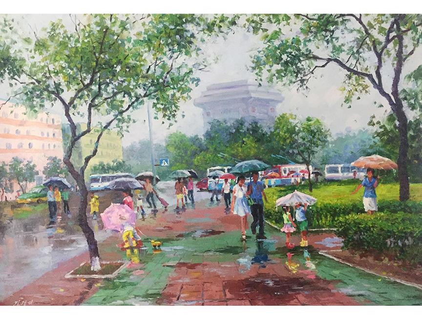 金京美(一级画家)《雨季》2015