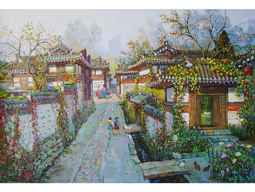 李钟元(人民艺术家)《开城的家》2015