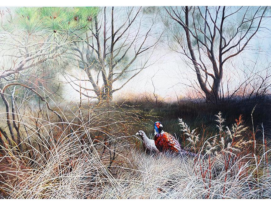 雪明(一级画家)《春晓》