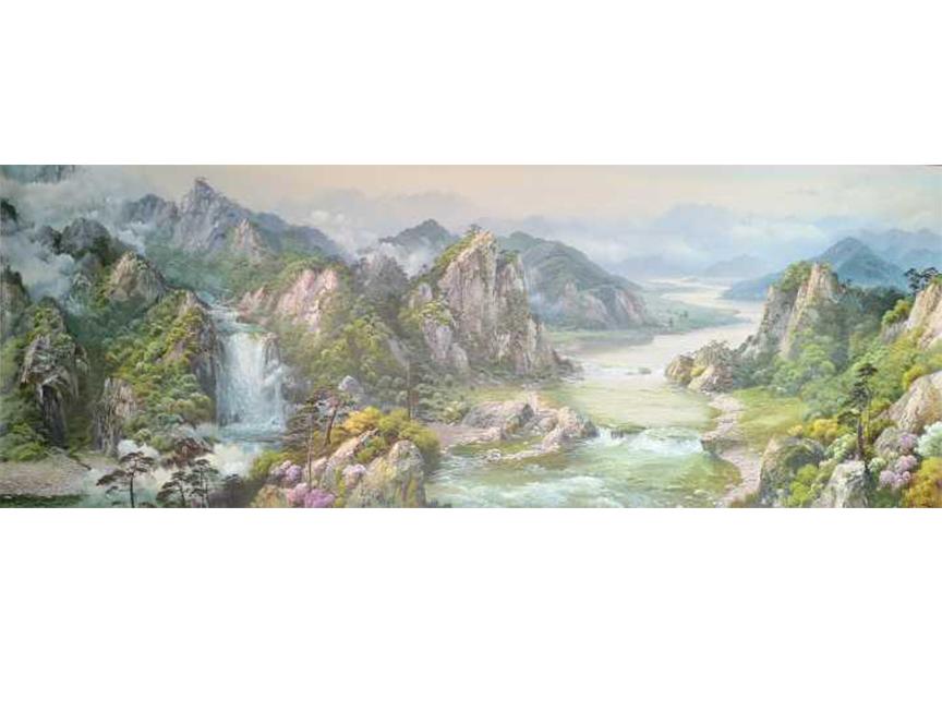 福建赵正范(一级画家)《大气磅礴》220X80 2018
