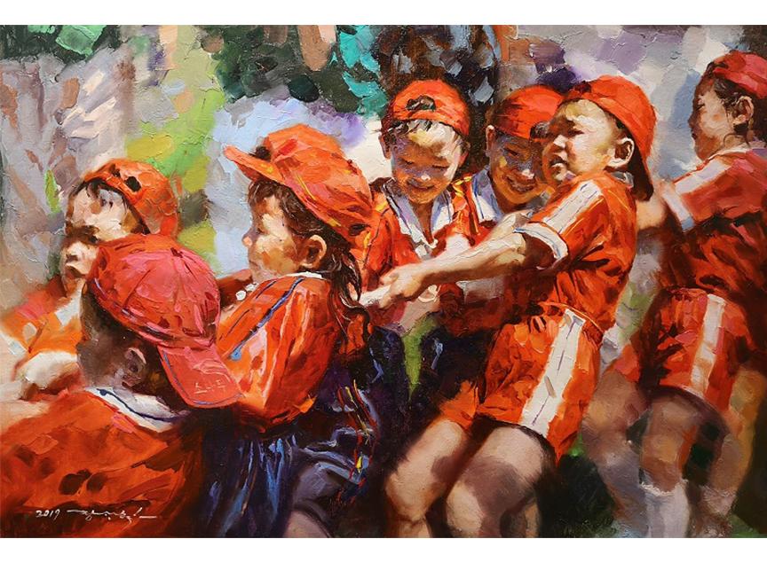 张光赫(一级画家)《童年》93x63 2019年