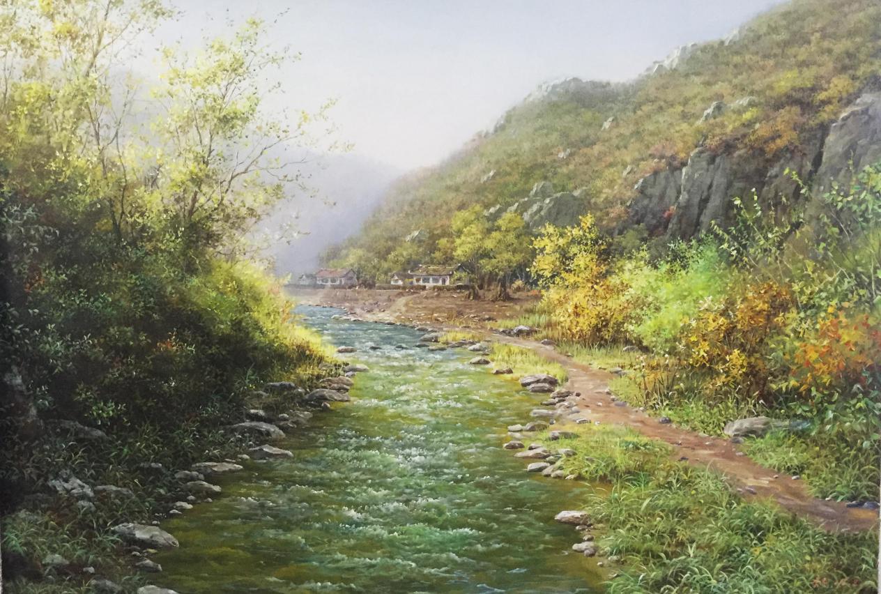 金赫(一级画家)《缘溪行》 115x80