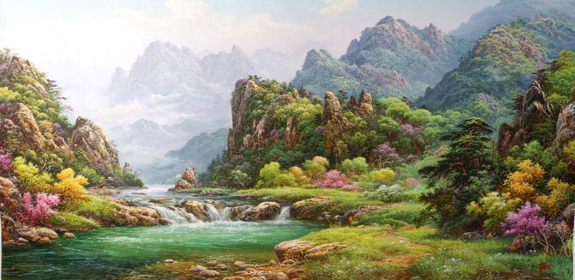 金永浩(功勋艺术家)《 妙香山之春》200x100
