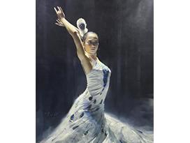 黄哲(功勋艺术家)《雀之灵》162x106