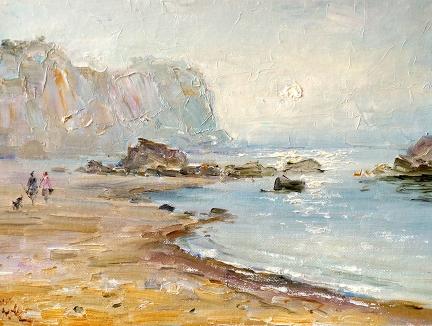 崔清活(功勋艺术家)《海滩》2014