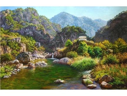王金革(一级画家)《春光明媚》 2017