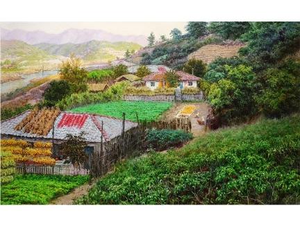 王金革(一级画家)《绿树村边合》 2017