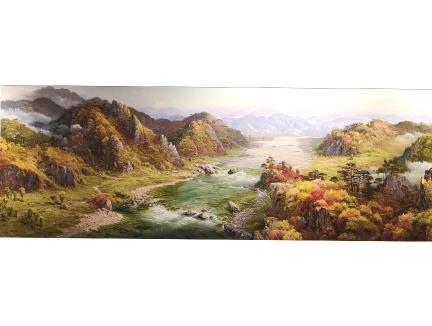 赵正范(一级画家)《盛世河山》220×80 2018
