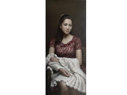 浙江崔龙学(一级画家)《佳人》 115X50  2019年