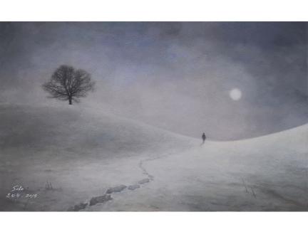 柳尚赫(一级画家) 《梦与远方》68x42 2019年