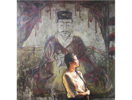 金文坤(功勋艺术家)《遥望》115x115  2019年