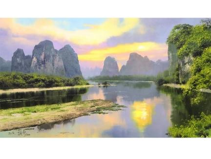 赵成赫(功勋艺术家)《青山绿水》92x52 2019年
