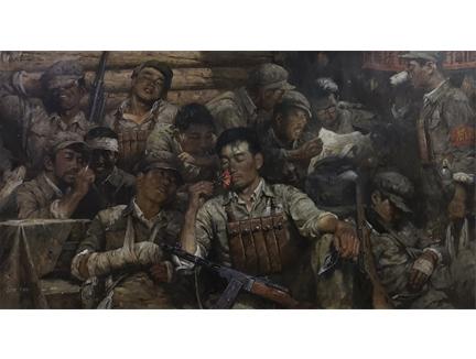 崔武光(功勋艺术家)《峥嵘岁月 》156x88 2019年