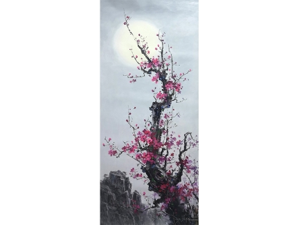福建金哲镇(功勋艺术家)《五福梅》 113x50 2019年