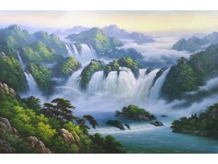 朴成龙(功勋艺术家)《气势磅礴》 210x136 2019年