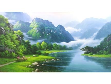 朴成龙(功勋艺术家)《南山之寿》 206x112 2019年