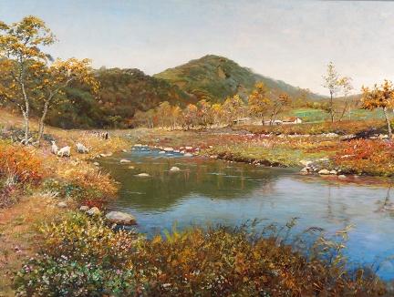 福建昌石(一级画家)《秋天的郊外》83x55 2016年