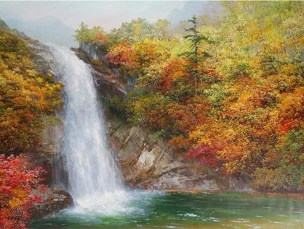 福建姜恩珠(功勋艺术家)《金刚山的秋天》165x110
