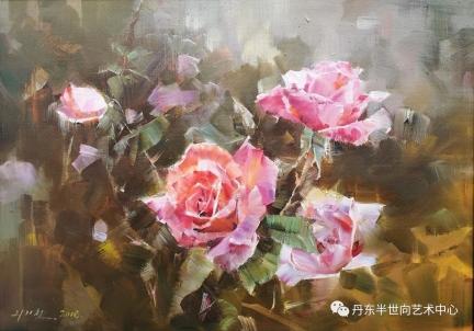 李基哲(一级画家) 花开富贵》65x46