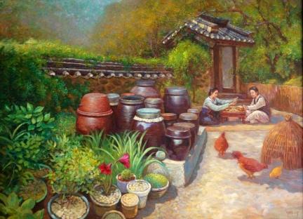 李元哲(功勋艺术家)《闲趣》126x94