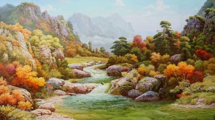 廉泰顺 (人民艺术家)《金秋溪谷》160X100