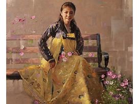 宁波黄哲(功勋艺术家)《初秋》130x130 2020年