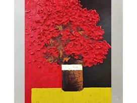 金星(一级画家)《彩虹・红》80x65 2021年