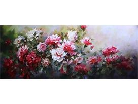 桂妍欣(一级画家)《花开富贵》157x62   2021年