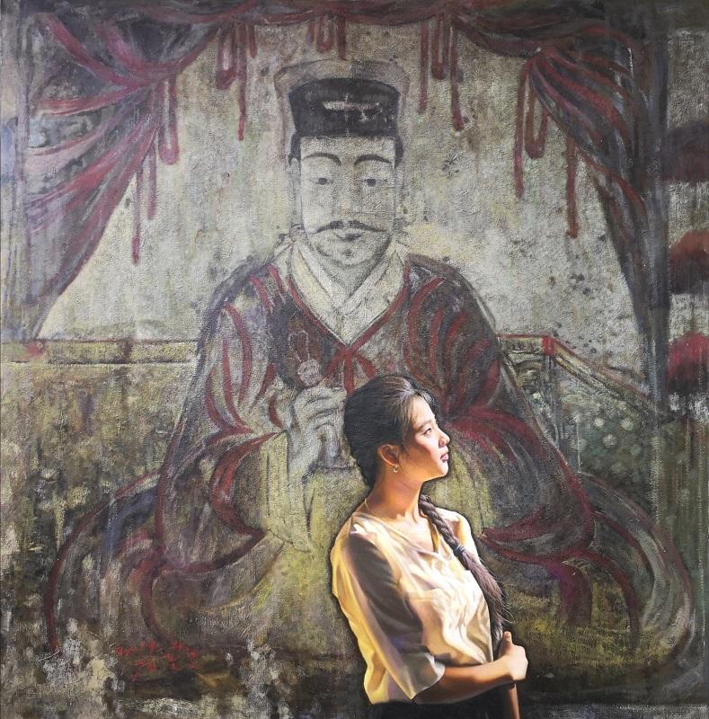 朝鲜人物油画